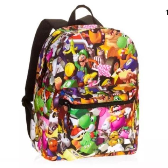 44d45a767fc8 Super Mario Comic Backpack Mario Kart Book bag 16